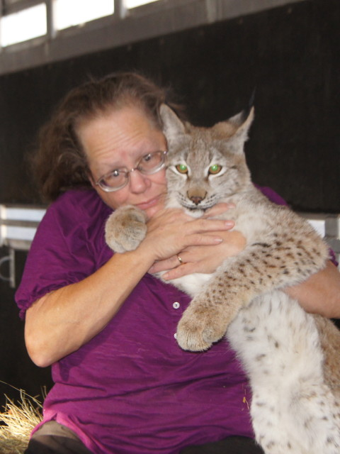 Nancy and Siberian Lynx